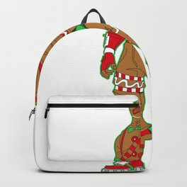 Gingerbread Man Money in Pocket Christmas Shirt Backpack