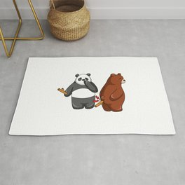 Hey Bear Panda Put Stick to Grizzly Rug