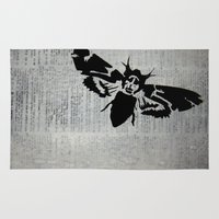 silence of the lambs Area & Throw Rugs featuring Silence of the Lambs by Kat Phelps