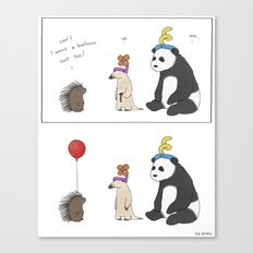 Everybody Deserves a Balloon Hat  Canvas Print