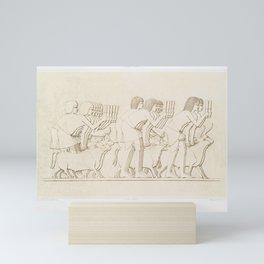 Cattle count from Histoire de lart egyptien (1878) by Emile Prisse dAvennes Mini Art Print