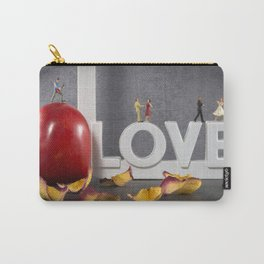 little figures on love text dancing Carry-All Pouch