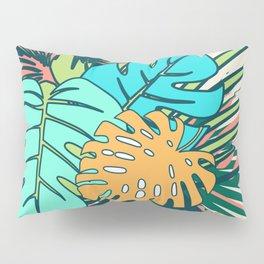Tropical leaves cream Pillow Sham