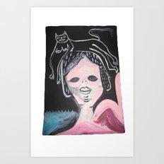 Gato Head Art Print