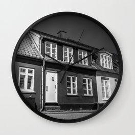 Charming houses, Aarhus Wall Clock