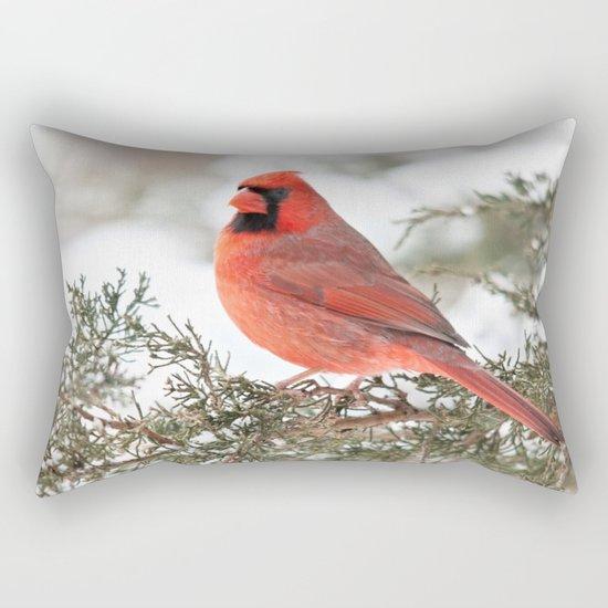 Regal Cardinal Rectangular Pillow