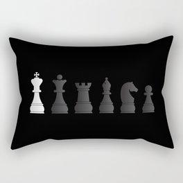 All black one white chess pieces Rectangular Pillow