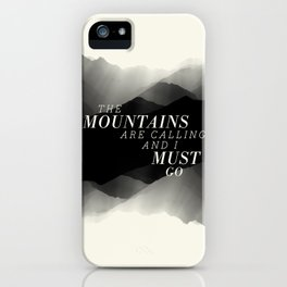 Mountains - BW iPhone Case