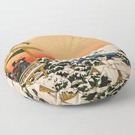 Snow at Koishikawa - Vintage Japanese Art Floor Pillow