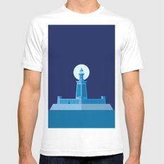 Lighthouse of Alexandria Mens Fitted Tee MEDIUM White