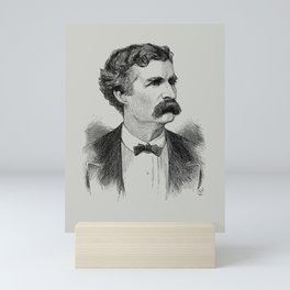Mark Twain Engraved Portrait - 1870 Mini Art Print