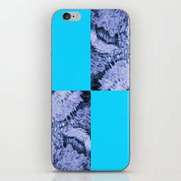 Season of the Square - Light Blue Check iPhone Skin
