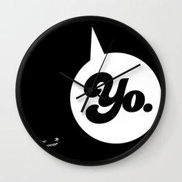 """""""YO."""" Wall Clock"""