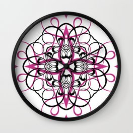 FUCHSIA SACRED GEOMETRY Wall Clock