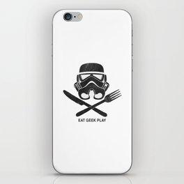Eat Geek Play Logo iPhone Skin