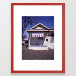 welcome home lee Framed Art Print