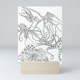 A Consortium of Octopi BW Mini Art Print