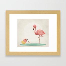 Little Flamingo Framed Art Print