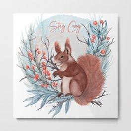 Stay Cozy Metal Print