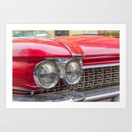 Vintage light car Art Print