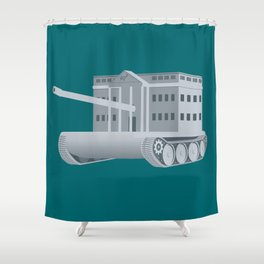 ThePresident Has Exceeded His Authority by Waging War Without Congressional Authorization Shower Curtain