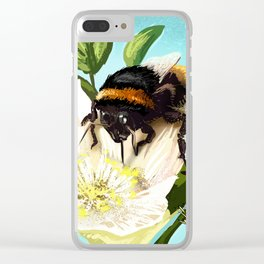 Bee on flower 5 Clear iPhone Case