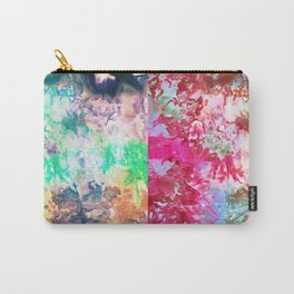 Green Versus Red Tie Dye Carry-All Pouch