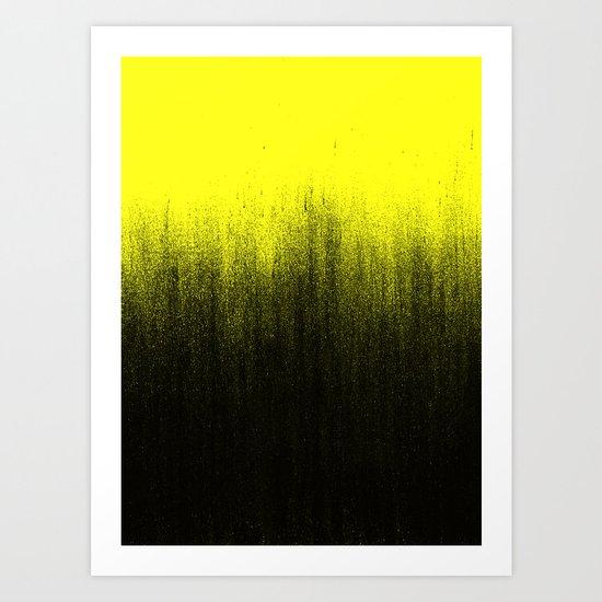Yellow Ombré Art Print