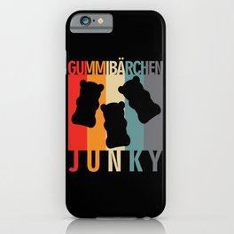 Gummy Bear Junky Retro Design iPhone Case