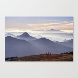 """Sunset at the mountains III"" Canvas Print"