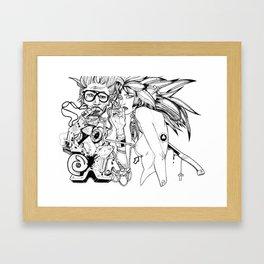 NICOTINE & GAZOLINE Framed Art Print