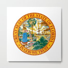 Florida State Seal Metal Print