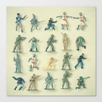 army Canvas Prints featuring Broken Army by Cassia Beck