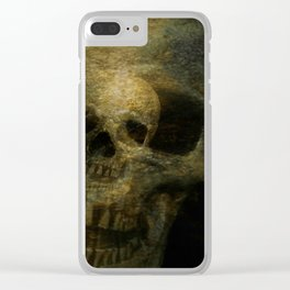 Double Exposure Skulls Photograph Clear iPhone Case