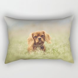Cute Puppy - Little Dog Rectangular Pillow