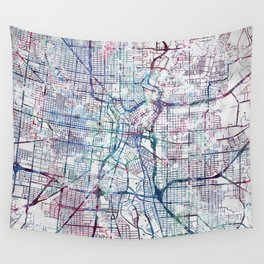 San Antonio map Wall Tapestry