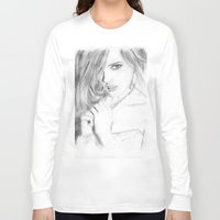 emma stone Long Sleeve T-shirts featuring Emma by S'ANNie
