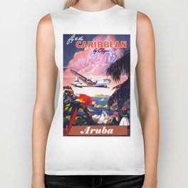 Fly to the Caribbean - Aruba Biker Tank