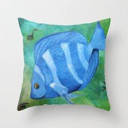 Tropical Fish - Blue Tang  Throw Pillow