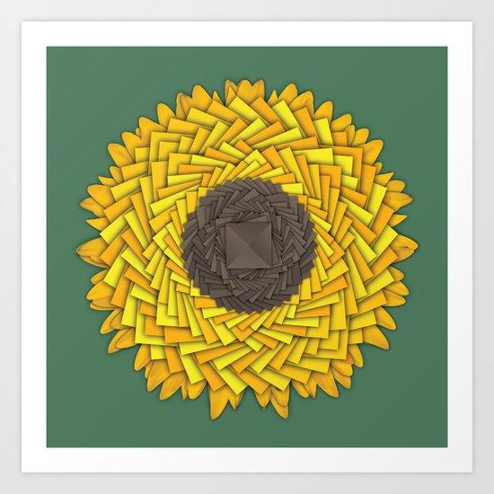 Natural Geometry Art Print