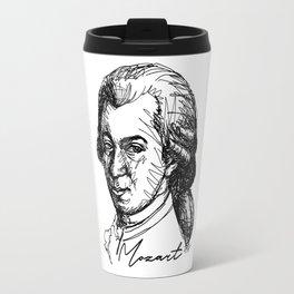 Wolfgang Amadeus Mozart sketch Travel Mug