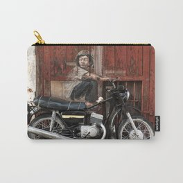Boy On Motorcycle Carry-All Pouch
