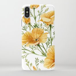 California Poppies - Watercolor Painting iPhone Case
