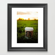 Starbucks Coffee Pumpkin Spice Latte  Framed Art Print