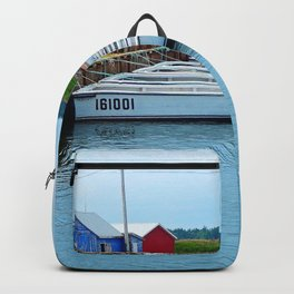 Lobster Boats and Traps Backpack