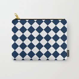 Diamonds - White and Oxford Blue Carry-All Pouch