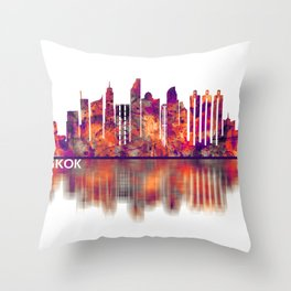 Bangkok Thailand Skyline Throw Pillow