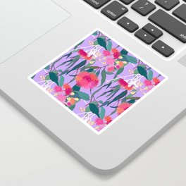 Australian Gumnut Eucalyptus Floral in Lilac Orchid Sticker
