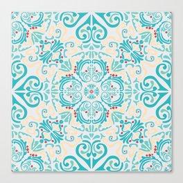 Mediterranean seamless wallpaper folk print Canvas Print