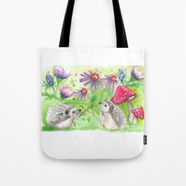 Hedgehog Duel; Why Can't Hedgehogs Share the Hedge? Tote Bag